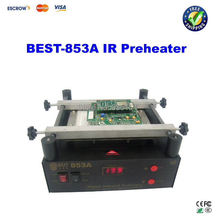BEST-853A  IR preheater infrared preheating plate for BGA reballing 853a bga constant temperature lead free preheating stations