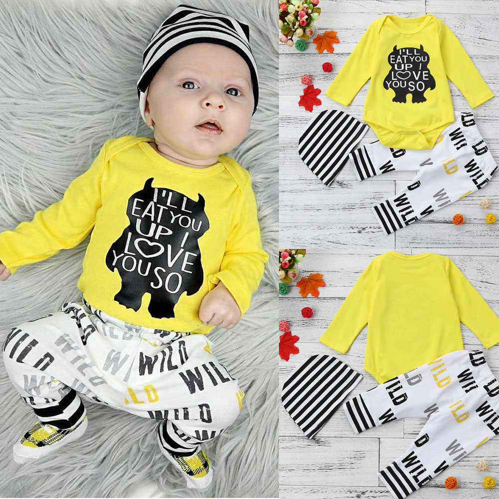205a82f2e Detail Feedback Questions about MUQGEW New Fashion Fashion Newborn Infant  Baby Girl Boy Clothes Letter Print Long Sleeve Tops+Pants Outfits Clothes  Set on ...