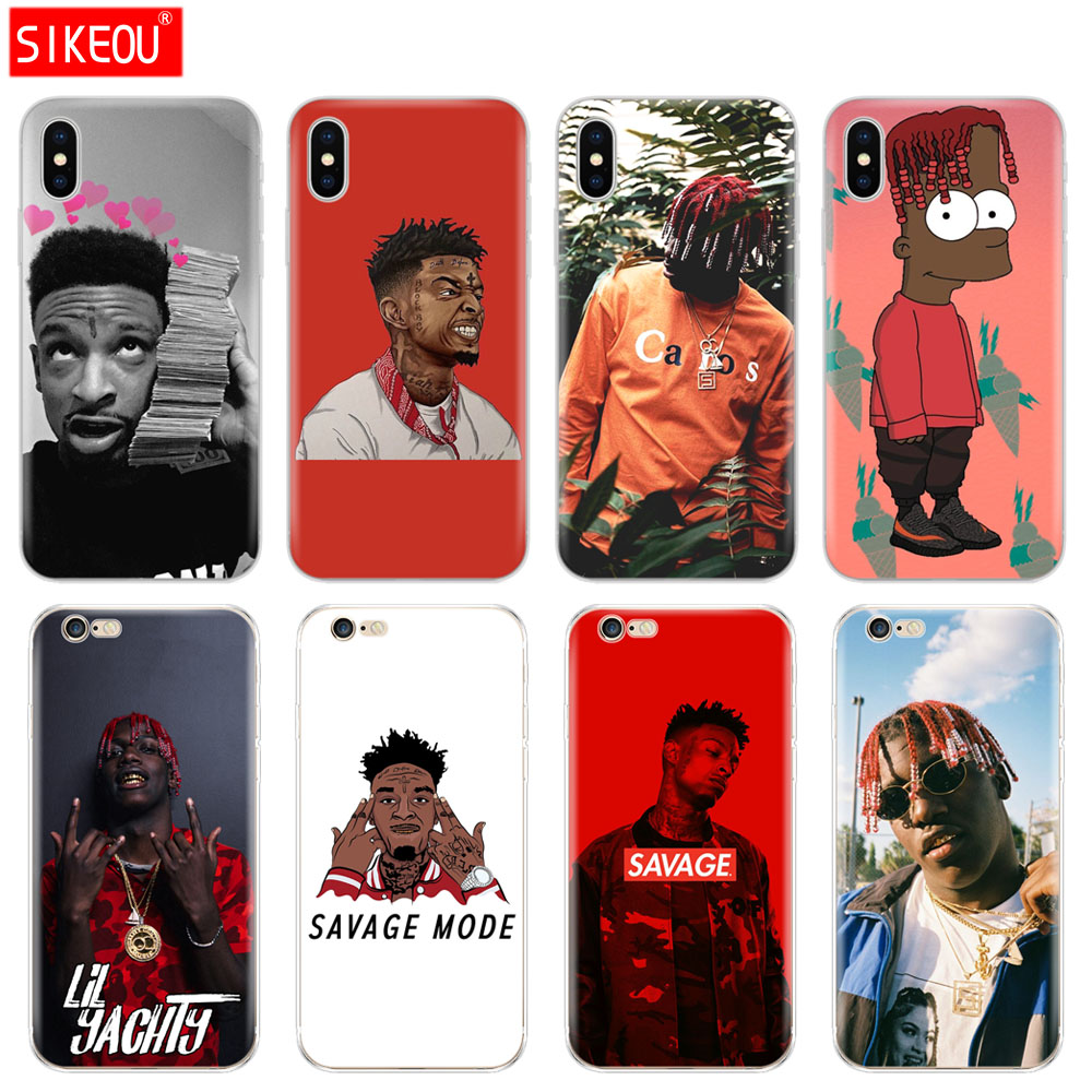 Silicone Cover Phone <font><b>Case</b></font> For <font><b>Iphone</b></font> 6 X 8 7 6s 5 5s SE Plus 10 XR XS Max <font><b>Case</b></font> lil yachty <font><b>21</b></font> <font><b>savage</b></font> image