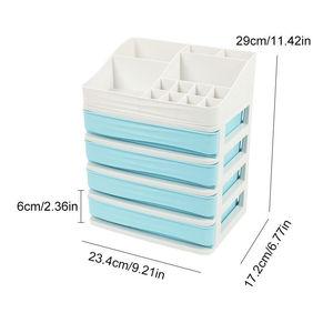 Image 3 - Многослойный пластиковый косметический ящик, органайзер для макияжа, контейнер для хранения, шкатулка для ногтей, настольный чехол для хранения