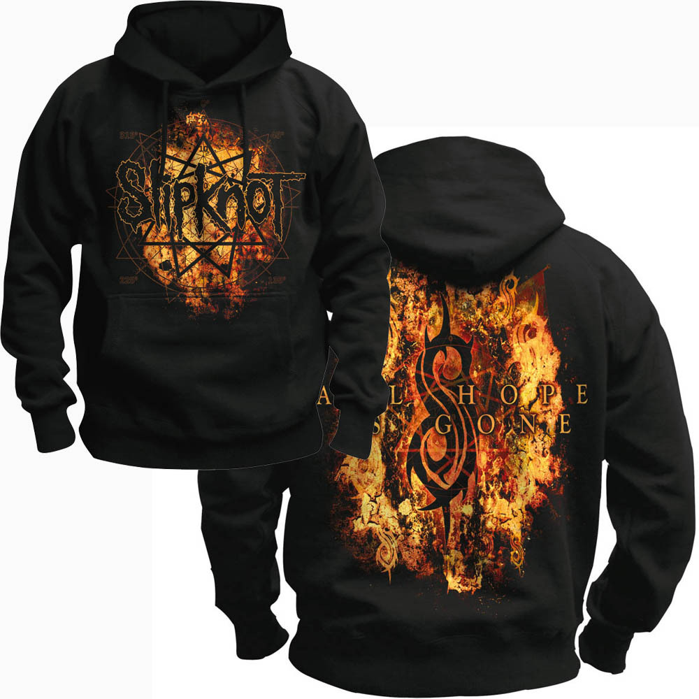 Free shipping SLIPKNOT All Hope Is Gone BLACK 100 COTTON font b hoodie b font