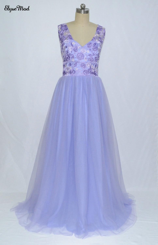liac tüll sticken arabische abendkleider v-ausschnitt a-linie tüll  ballkleider vintage günstige formale party kleider prom