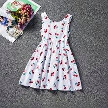 7a4aa325cee50 Bebek çocuk elbise kızlar parti giyim için yaz çocuk giyim kız giysi 7 yıl  kiraz Sundress