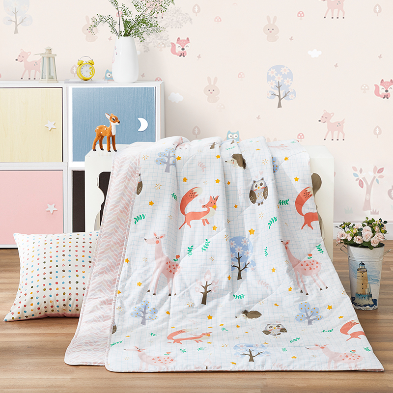 BEYOND Brand 100% Cotton Soft Comforter for Kids Hot Recommend Cartoon Pattern Children Bed Quilt Summer Blanket Twin Queen Size
