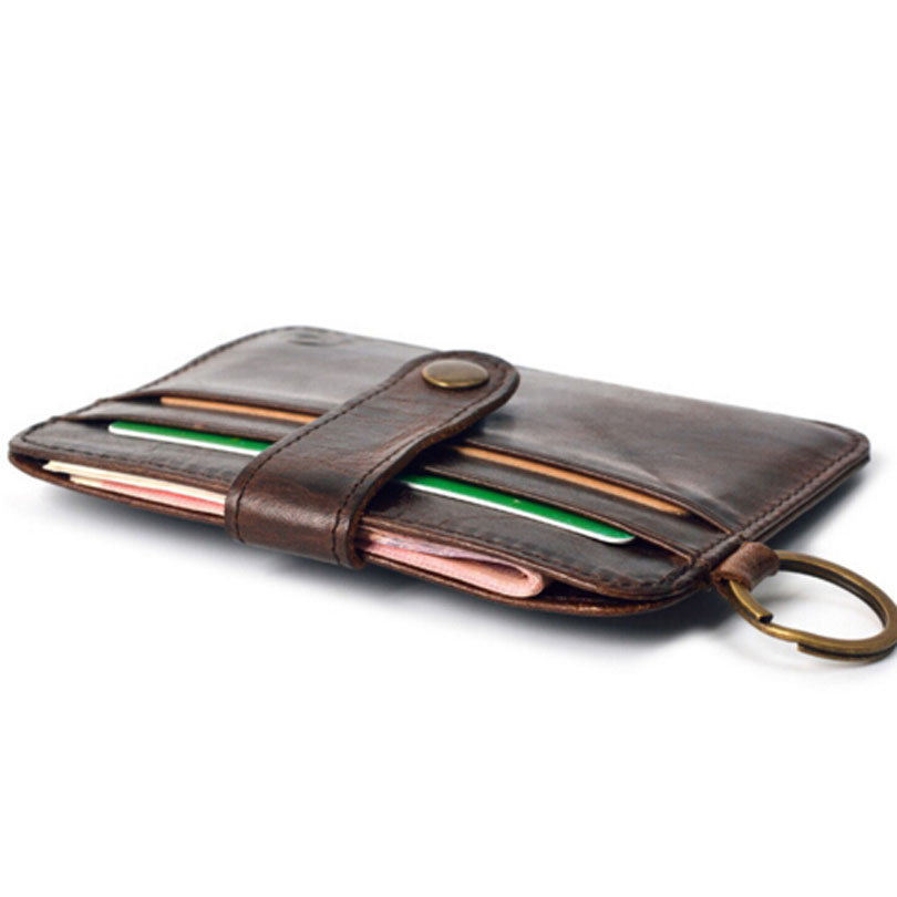 mini carteira 100% verdadeira carteira Leathe Card Holder,item : Small Wallet