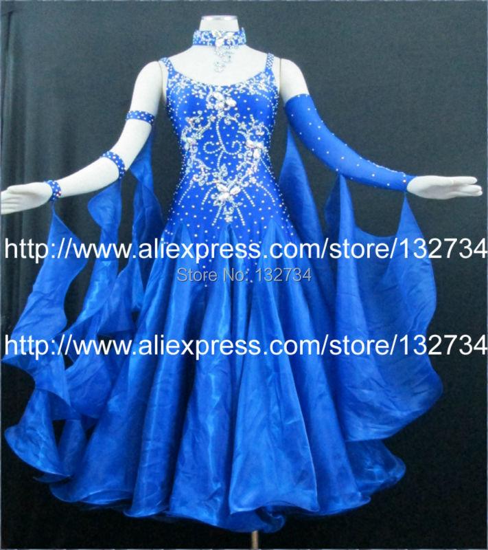 Modern Wals Tango Ballroom Dance Dress, Slät Ballroom Dress, Standard Ballroom Dress Girls B-0060
