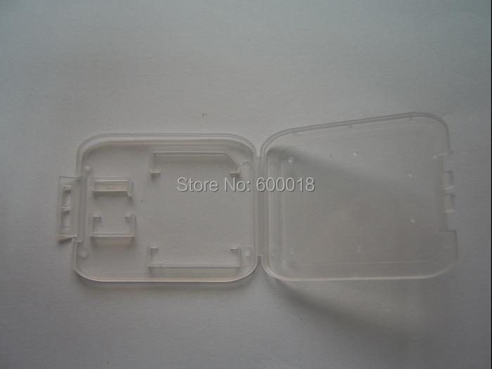 SD + micro sd memory card cases case box enclosure , slim sd card holder plastic Protector for micro sd 128GB dropshipping