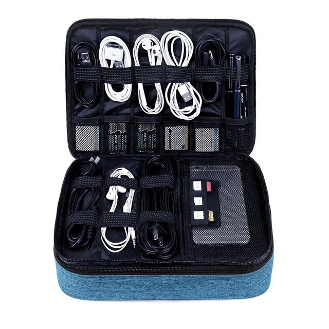Large Waterproof Electronic Accessories Travel Bag