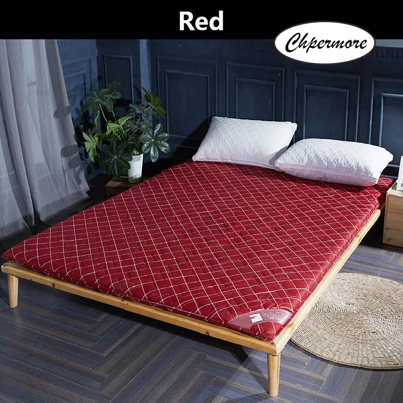 Chpermore Thick Mattress Foldable Single Double Student Dormitory Mattresses Cotton Cover Tatami King Queen Size