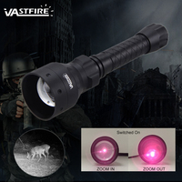 400yards Zoomable Adjustable IR Light Hunting Torch Black 850nm IR Night Vision illuminator Zoomable Infrared Hunting Light