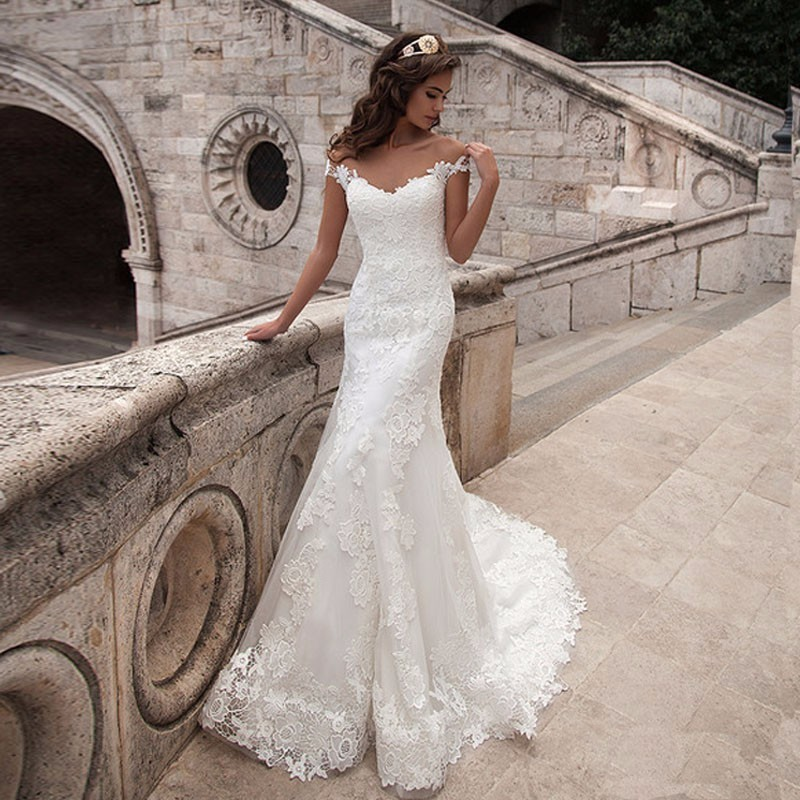 Mermaid Wedding Dresses Turkey 2019 Appliques Lace Custom Made Bridal Dress Wedding Gown vestidos de noiva