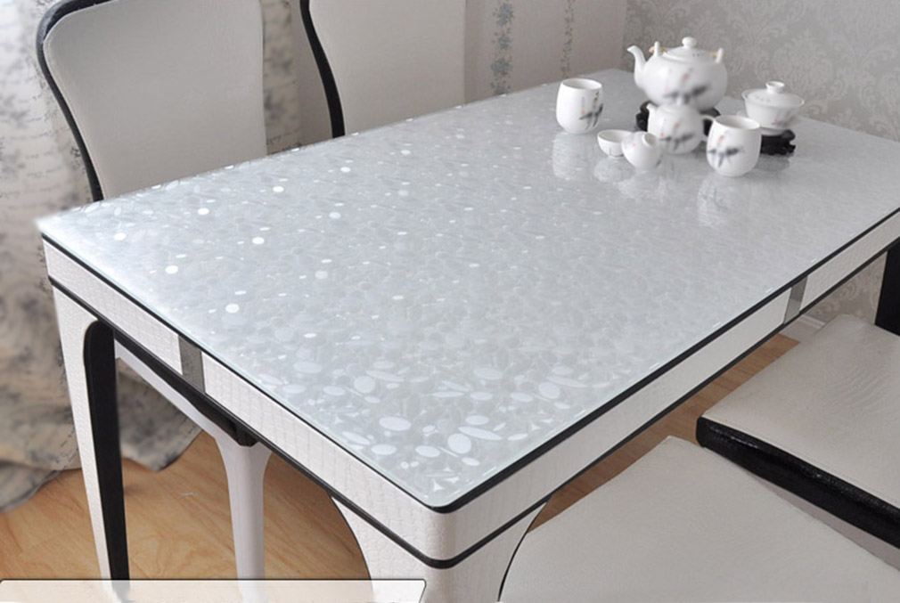 YO HOOM Kitchen PVC Tablecloths Table cloth Waterproof Table Cover Oil Cloth Soft Glass Tablecover in Tablecloths from Home Garden