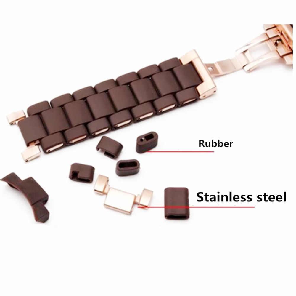 20mm 23mm Karet Silikon Dan Stainless Steel Gelang Jam AR silika gel untuk Ar 5890 5905 5858 5919 5920 Menonton band tali