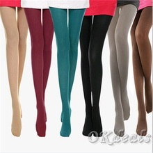 beauty women girl spring autumn opaque footed tight sexy pantyhose leg warmers