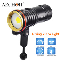 New! Archon DM10 WM16 led video light underwater 2700lm COB led diving flashlight 100m waterproof snoot kit photography torch free shipping archon w42vr d36vr w42vr 5200lm underwater video light diving flashlight torch