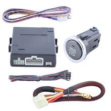Buena calidad botón de arranque kit de soporte de alarma de coche, arranque del motor a distancia/parada función y fácil de instalar