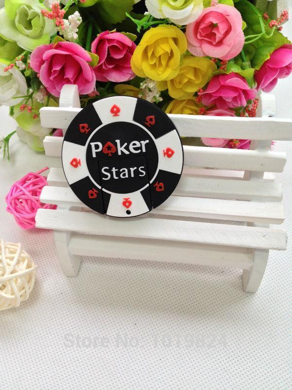 100% real capacity fans 4GB 8GB 16GB rubber Poker Stars pokerstars USB flash memory drive Pen U disk Box packed gift S9 AA