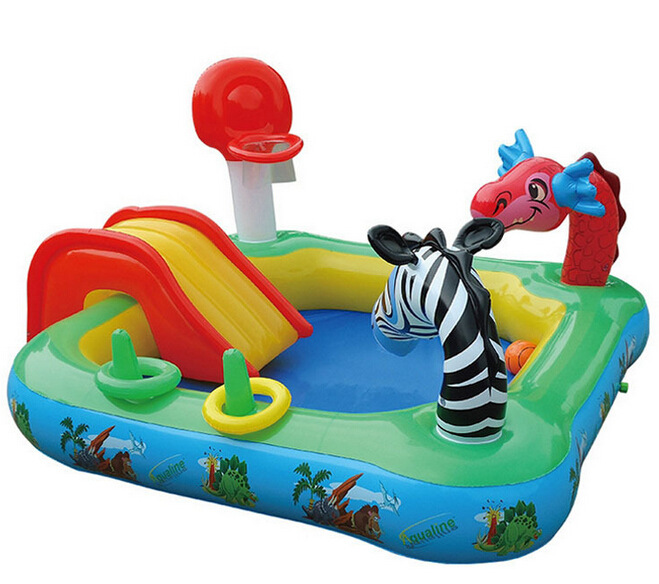 Baby Large Inflatable Swimming Pool with Inflatable Slide Pool Child ...