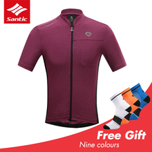 Santic cycling jersey Summer mtb Mens bike Clothing Short Sleeve Radtrikot Herren Maillot Ciclismo MTB Cycling Shirt Spexcel