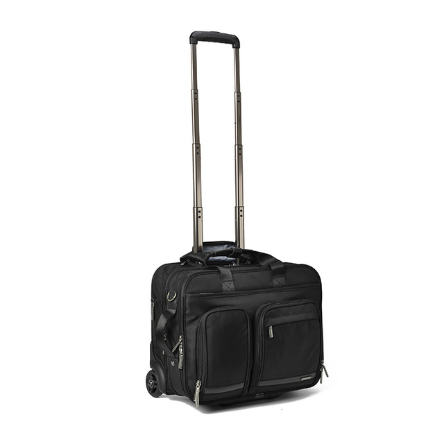 LeTrend 16 inch business trip Rolling Luggage Multifunction Suitcase Wheels Men Carry on Trolley pilot laptop bag Travel Bag 1