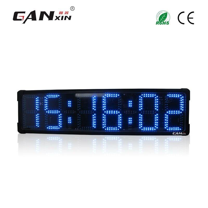 [Ganxin] 8 дюймов 6 цифр двухсторонний Открытый Спортивные Гонки таймер светодиодный цифровой отсчет/подсчитать часы с хронограф