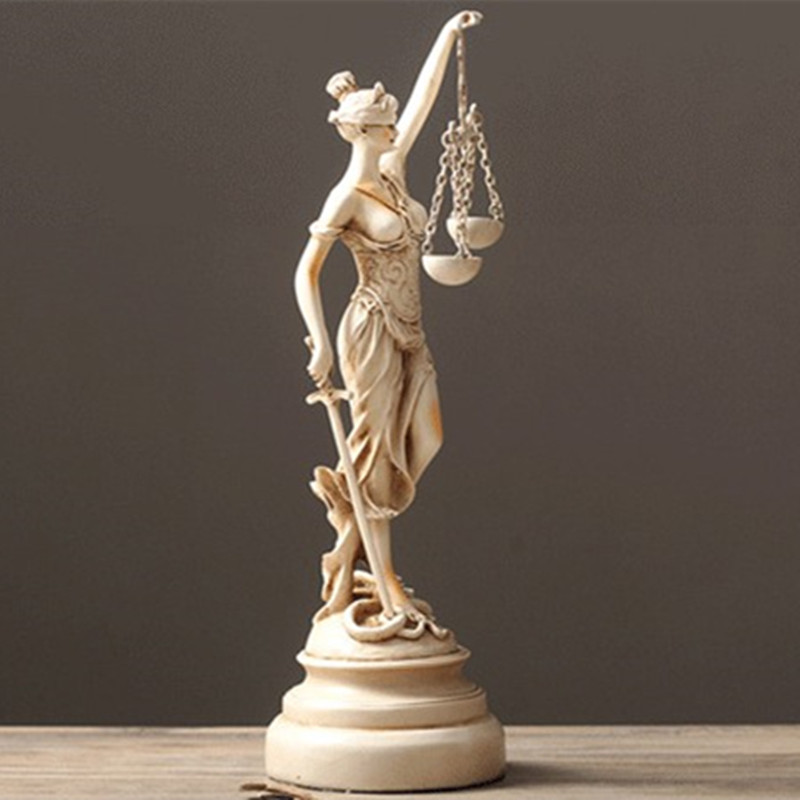 Sandstone Greece Statue Themis Home Decoration Accessories Sandstone Greek Goddess Of Justice Statue Sculpture