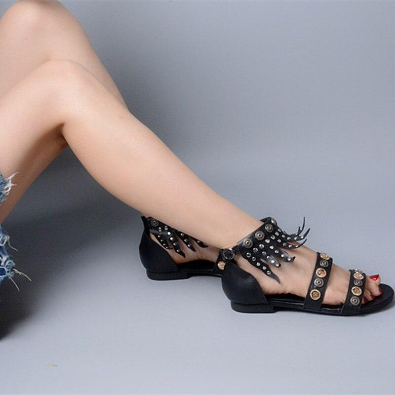 Nouveau Piste De À Femmes As Pic Pour Femme D'été Choudory Plateforme 2019 Chaussures Les Mode Fringe Cheville Wrap Sandales QrChtsxBod