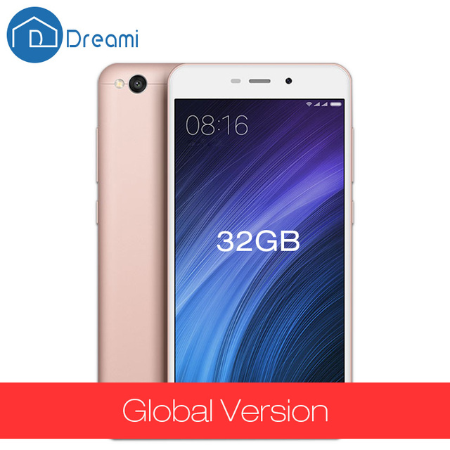 Dreami Global Version Original Xiaomi Redmi 4A 2GB RAM 32GB ROM Snapdragon 425 5.0 Inch 13MP Quad Core Cellphone 4 A Red Rice
