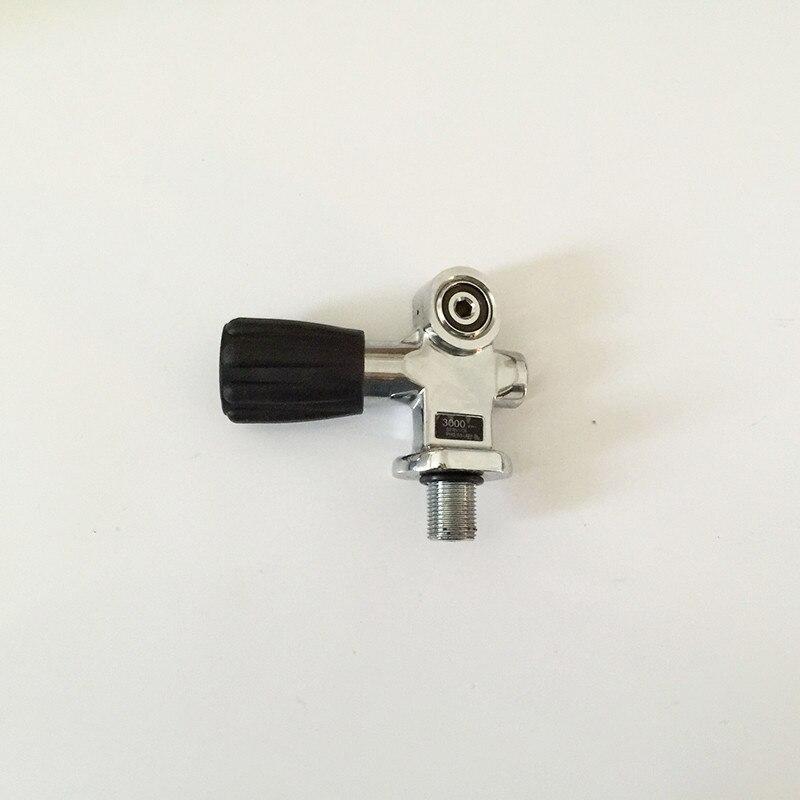 Carbon fiber cylinder SCUBA diving valve with 3000 psi working pressure