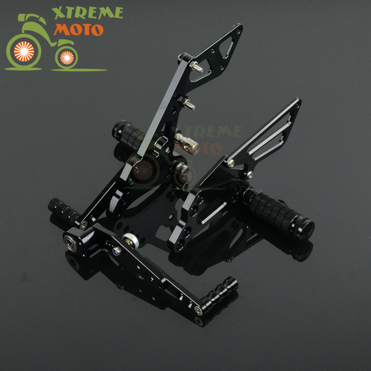Motorcycle CNC Adjustable Motorcycle Billet Foot Pegs Pedals Rest For SUZUKI GSXR600 GSXR750 2011-2015 11 12 13 14 15 for suzuki gsxr600 gsxr750 gsxr1000 gsx s1000 f tl1000s clutch cable wire adjuster m10 1 5 motorcycle accessories cnc billet