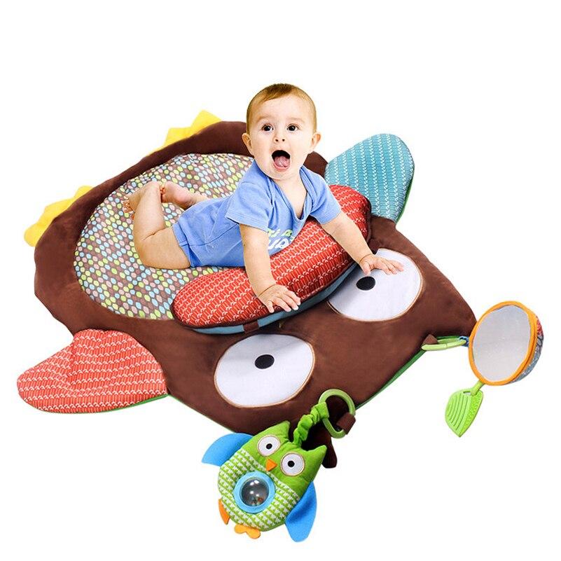 72 * 74 cm Mjukt söt spädbarns lekmatta med baby Rattle Soft - Leksaker för spädbarn
