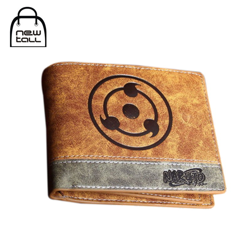 [NEWTALL] Japanese Anime Naruto Sharingan Symbol PU Leather Short Bifold Wallet Credit Card Holder Purse T1250