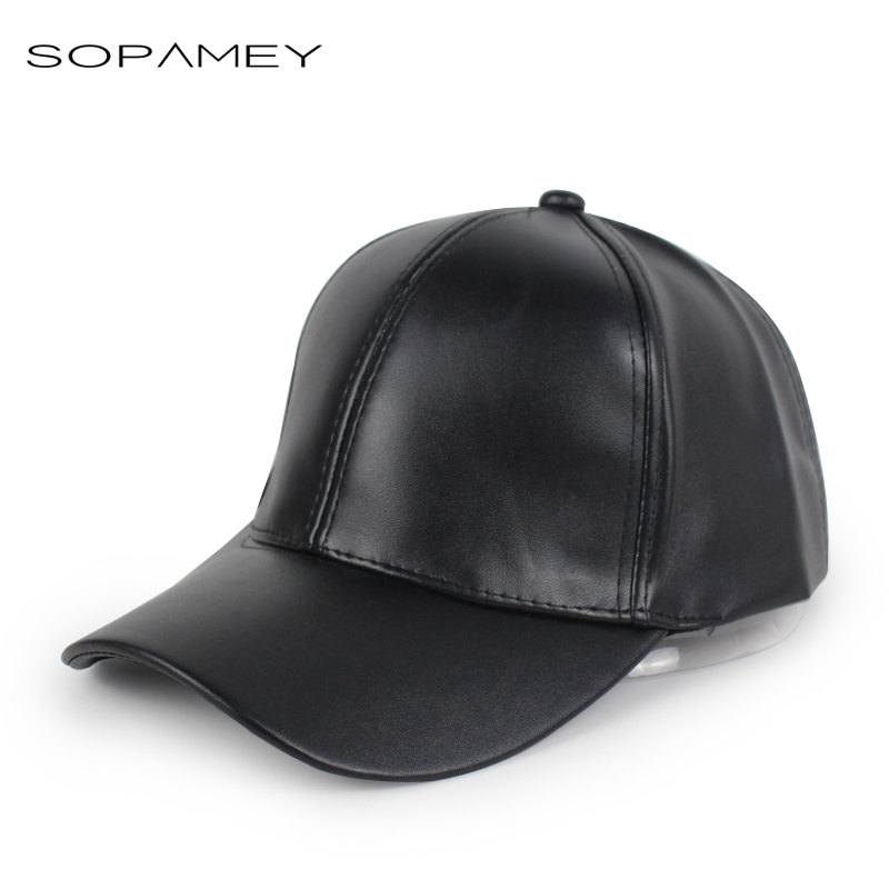 New Men PU Leather surface Baseball Cap Hip Hop caps Women Snapback hats Casquette Winter Trucker hat for Men women 2017 2016 new new embroidered hold onto your friends casquette polos baseball cap strapback black white pink for men women cap