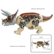 Sermoido Tyrannosaurus Rex Dinosaur Bricks Jurassic World Model Collection Building Blocks Toys For Children Birthday Gifts wiben jurassic tyrannosaurus rex t rex dinosaur toys action figure animal model collection learning