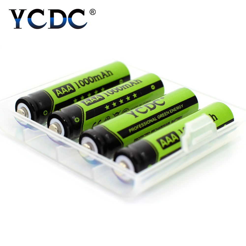 ycdc 4pcs ni mh aaa rechargeable batteries 1 2v 1000mah nimh battery for 1 2 v toy led. Black Bedroom Furniture Sets. Home Design Ideas