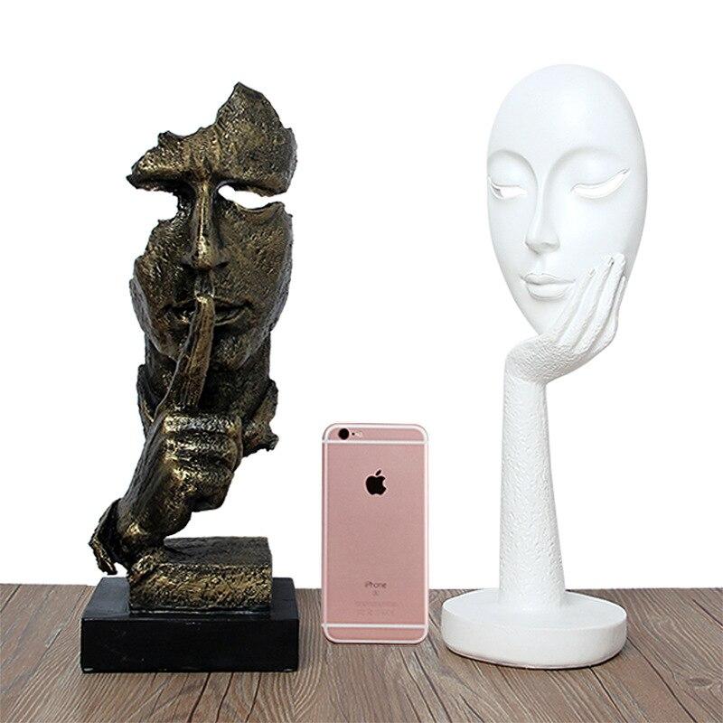 Rétro Creative Caractères Abstraits Ne Pas Écouter Regarder Sculpture Maison De Bureau Décoration Artisanat Cadeau