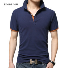 ZhenZhou M-3XL Summer Solid Polo Shirts Men Short Sleeve Cool Mens Polo Shirt Brands Business Style Men's Polos Shirt