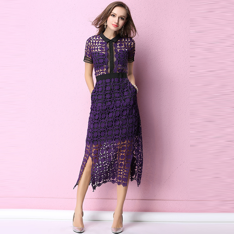 Promoción de Vestido Púrpura De La Manga - Compra Vestido ...