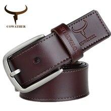 Cowather дизайн моды корова натуральная кожа 2016 новых мужчин ремни хорошее качество мужской ремень для мужчин новейшие пряжкой бесплатно доставка