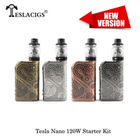 Electronic Cigarettes Tesla Nano 120W Box Mod kit Steampunk Style VW TC TCR Mode With Tesla H8/Tallica Mini Tank Vape Vaporizer