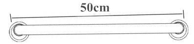 304 нержавеющая сталь 50 см подлокотник для ванной комнаты Ванная Ручка Ванна подлокотник поручни GS008