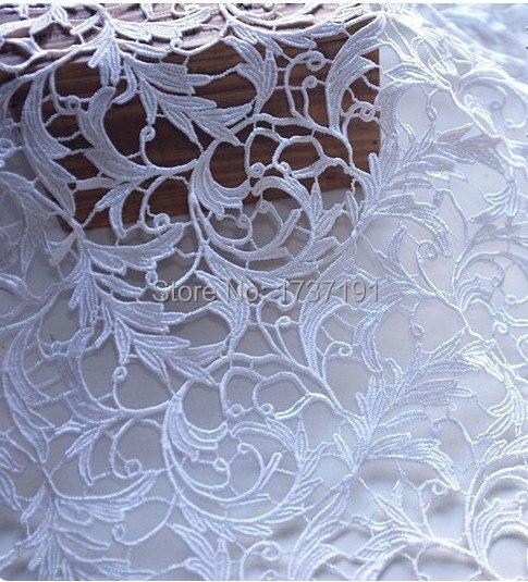Ivoire blanc venise dentelle tissu Antique crochet Floral dentelle robe de mariée robe tissu