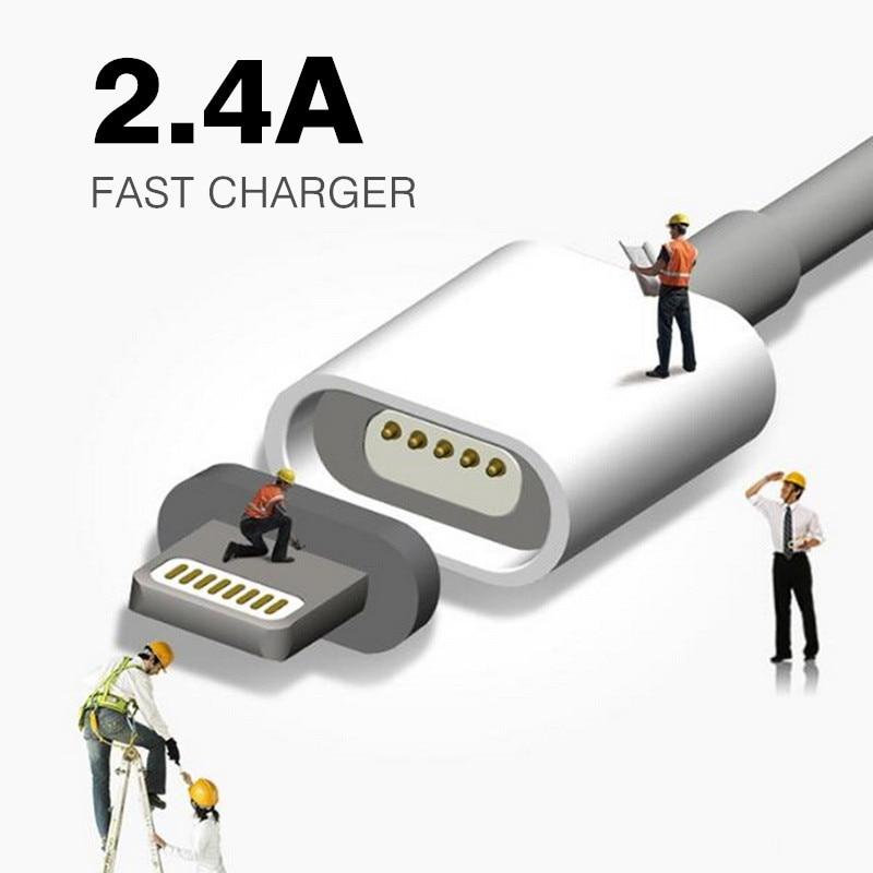 2.4A Магнитно-Кабель Кабель Micro Usb для iPhone 6 6 s 7 плюс 5S 5 Android Samsung Мобильный Телефон Данные Зарядный Магнит Зарядное Устройство кабель