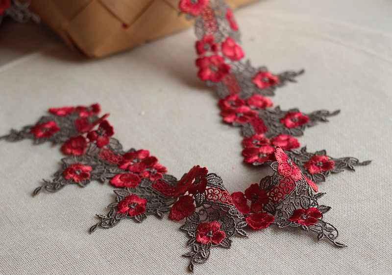 8 cm veya 3.15 inç wide-2Yards/lot Yüksek qualityLace Döşeme, Narin Çiçek Dantel, venise Dantel Kumaş Kostümleri