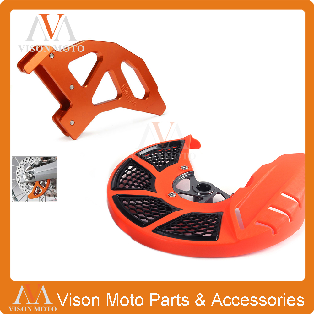 Front and Rear Brake Disc Rotor Guard Cover Protection For KTM SX125 SX144 SX150 SX200 EXC SX SXF XCF 125 150 250 350 450 505 motorcycle front rider seat leather cover for ktm 125 200 390 duke