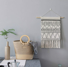 Macrame Woven Wall Hanging Morocco Bohemian Home Geometric Art Wall Tapestry Decor Beautiful Apartment Dorm Room Decoration 10pcs white t10 5630 10 smd led canbus light error free car side wedge license plate light 12v super bright lamp