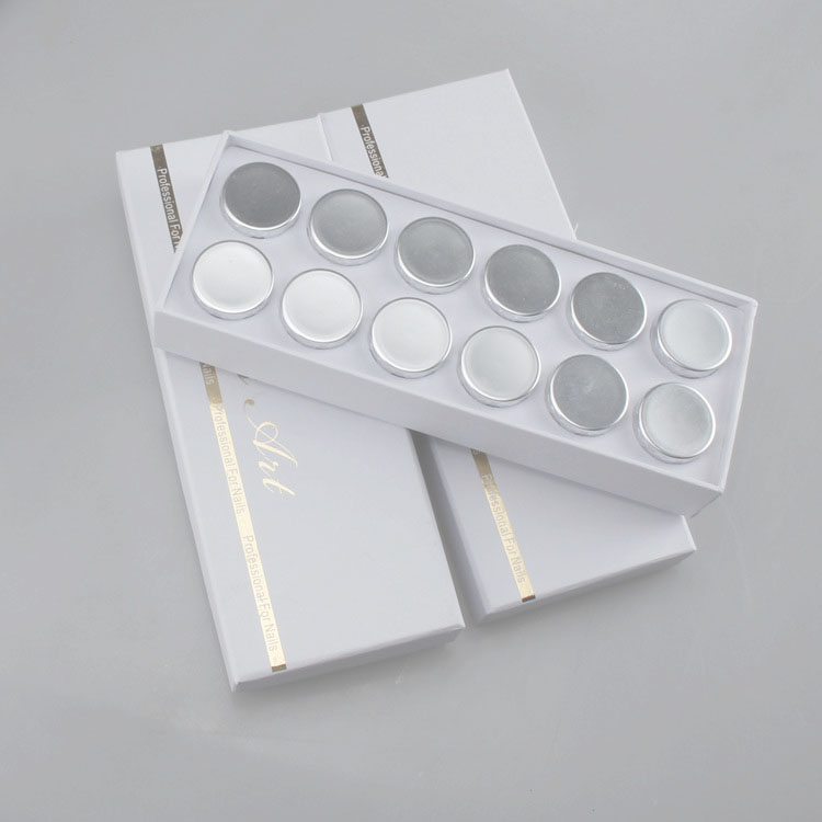 12 Colors/Set mirror powder nails Chrome Mirror Powder Mirror Effect Powder Gel Nail Polish bellylady 6 pcs set mirror powder nails kit shinning mirror nail art chrome nail powder manicure pigment glitters with gift box