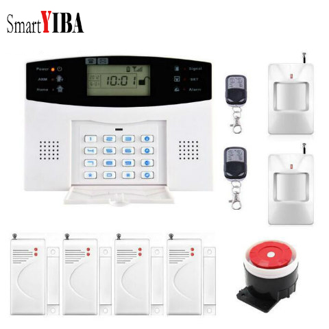 SmartYIBA GSM SMS Alarm Kits With Anti-theft Motion Detector Wireless GSM Home Security Alarm System комод пеленальный с ванночкой erbesi bubu белый белый