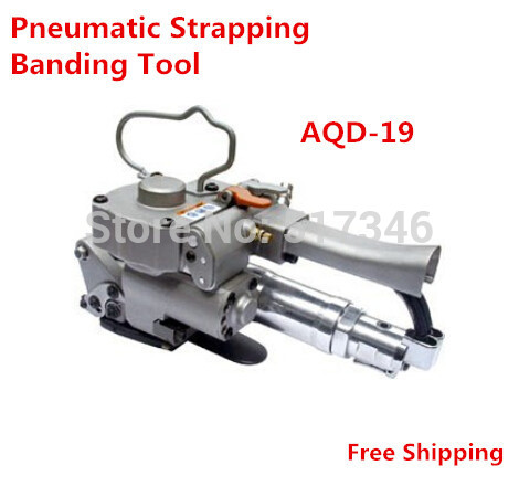 1pcs Pneumatic Plastic Strapping Banding Tool PET/PP AQD-19 width13-19mm carton firction packing machine