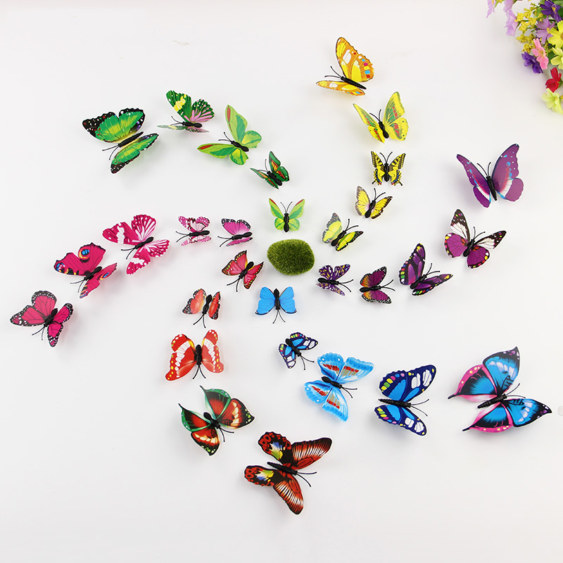 12pcs Set 3d Pvc Magnet Butterflies Diy Wall Sticker For Tv Wall Kids Bedroom Walls
